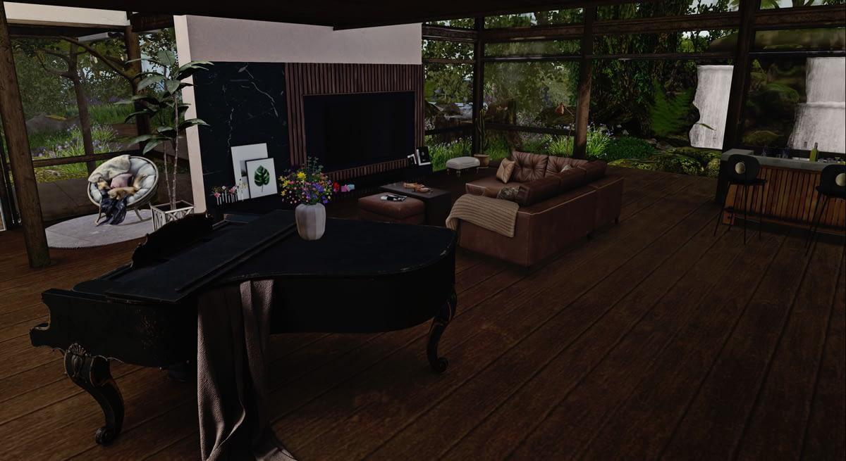 The Lodge Furnished Rental Grand Piano