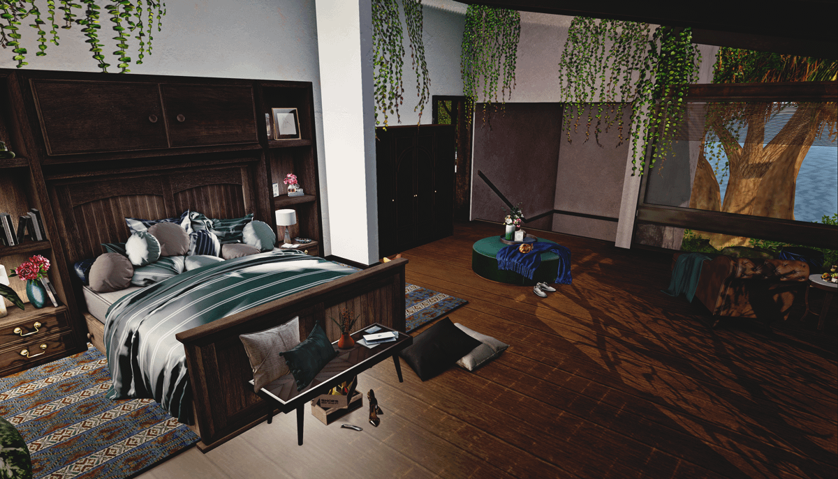 The Lodge Bedroom Second Life Furnished Rental